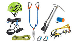 Mountaineering Gear , for the higher region of the Alps, especially in winter season