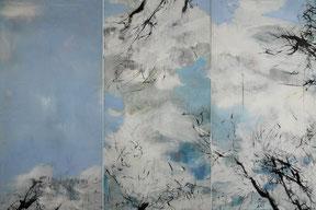 湖中  IN THE LAKE  100X150CM    布上油画 OIL ON CANVAS  2010 (收藏于日本 COLLECTED IN JAPAN)