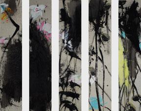 合一 OMNIPRESENT GROUP 5X200X40CM 布面油画  OIL ON CANVAS  2010 (分别收藏于日本,美国,上海,台湾 COLLECTED IN JAPAN, THE UNITED STATES, SHANGHAI, AND TAIWAN)