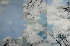 湖中  IN THE LAKE  100X150CM    布上油画 OIL ON CANVAS  2010 (收藏于日本 COLLECTED IN JAPAN)