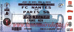 Ticket  Nantes-PSG  2005-06