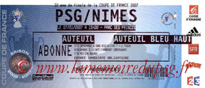 Ticket  PSG-Nîmes  2006-07