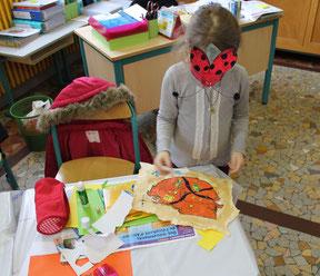 Carte aux trésors d'une jeune élève de CP réalisée lors d'une intervention scolaire de l'illustratrice Cloé Perrotin dans la Nièvre