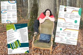 La graphiste Cloé Perrotin réalise vos CV personnalisés pour une recherche d'emploi efficace