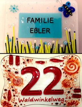 Klingelschild und Hausnummer