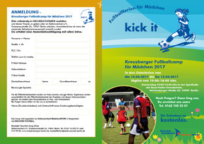 Kick it - Faltblatt