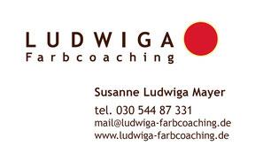 Ludwiga Farbcoaching - Visitenkarte