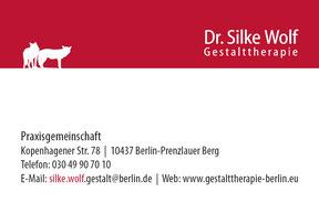 Gestalttherapeutin Dr. Silke Wolf - Visitenkarte