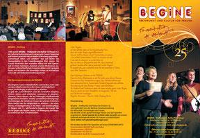Begine - Jubiläums-Faltblatt