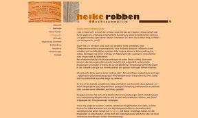 Anwältin Heike Robben - Website