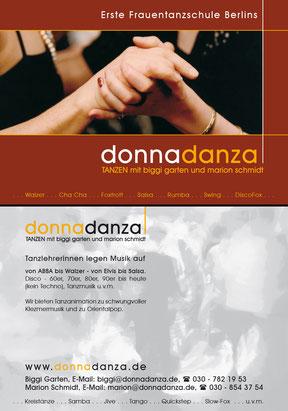donnadanza - Werbekarte