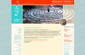 Carien Wijnen - Website healingvoice.de