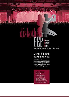 Diskothek mit PEP - Plakat