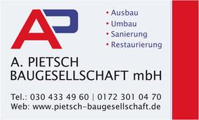 Baugesellschaft mbH Pietsch - Banner