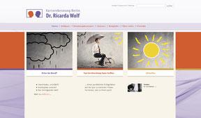 Dr. Ricarda Wolf - Website