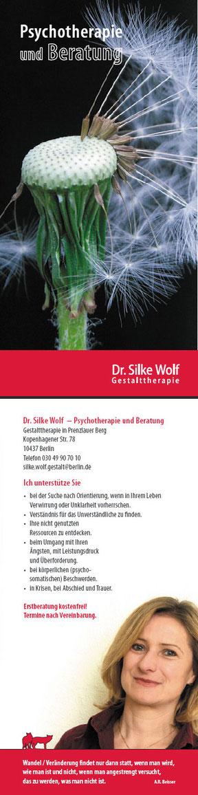 Gestalttherapeutin Dr. Silke Wolf - Flyer