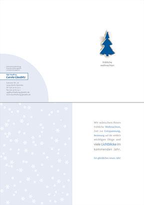Buchhaltungsbüro Glaubitz - Weihnachtsklappkarte DIN A6