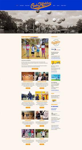 Cooler Sport für coole Mädchen - Website