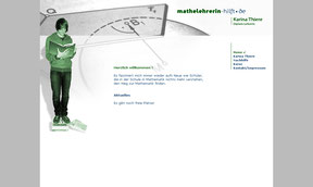 Mathelehrerin Karina Thiere - Website