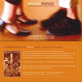 donnadanza - flyer