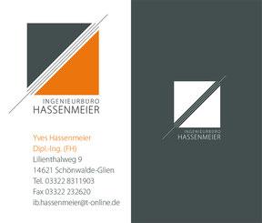 Ingenieurbüro Hassenmeier - Visitenkarte