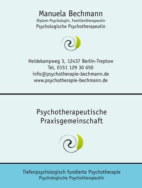 Psychotherapie Bechmann - Visitenkarte