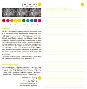 Ludwiga Farbcoaching - Flyer