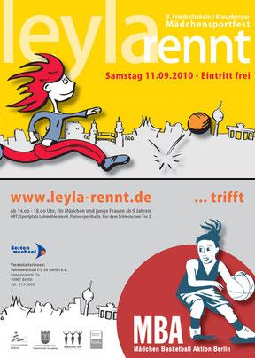 Leyla rennt - Werbekarte