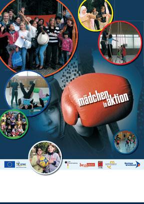 Mädchen in Aktion - Plakat