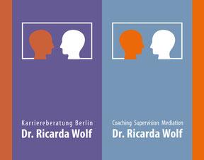 Ricarda Wolf - Klappvisitenkarte