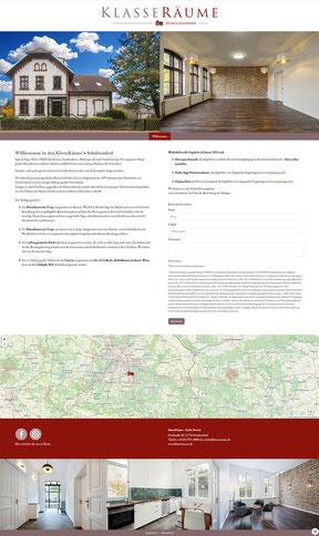 OnePage-Website KlasseRäume