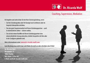 Dr. Ricarda Wolf - ANzeige