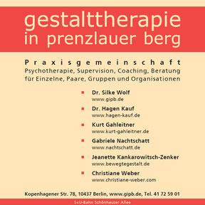 gestalttherapie in prenzlauer berg - Anzeige