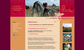 Wunderliche Frauenreisen - Website