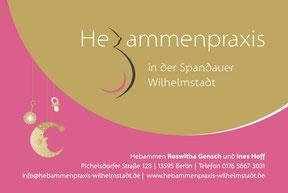 Hebammenpraxis Wilhelmstadt - Schild