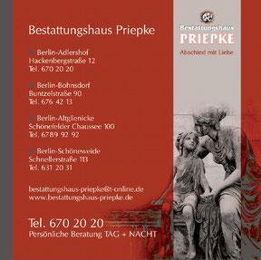 Bestattungshaus Priepke - Anzeige
