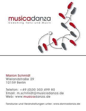 musicadanza - Visitenkarte