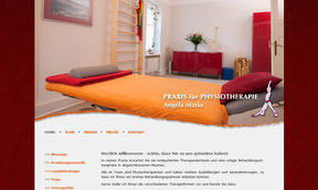 Physiotherapie Angela Marks - Website