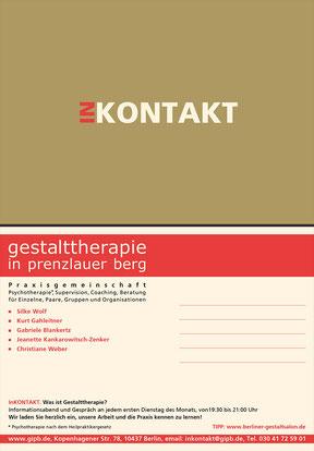 gestalttherapie in prenzlauer berg/ inkontakt - Werbekarte