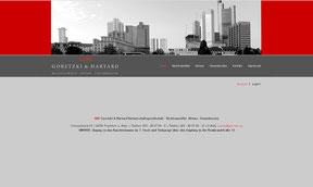 Goretzki und Hartard - Website
