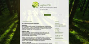 Stephanie Wit  - Ärztliche Psychotherapiepraxis -Website