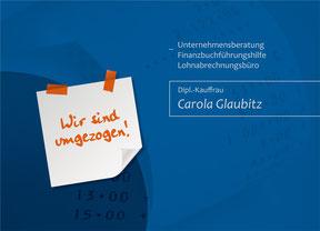 Buchhaltungsbüro Glaubitz - Werbekarte