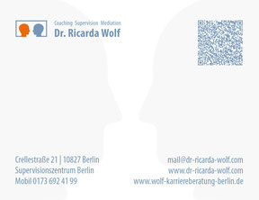 Dr. Richarda Wolf - Visitenkarte