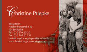Bestattungshaus Priepke - Visitenkarte