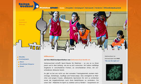 Mädchensport Berlin - Website
