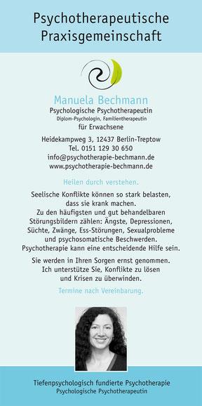 Psychotherapie Bechmann - Flyer