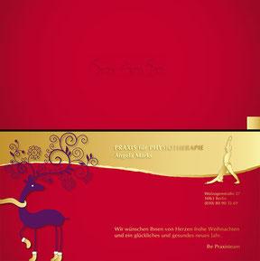 Physiopraxis Angela Marks - Weihnachtskarte