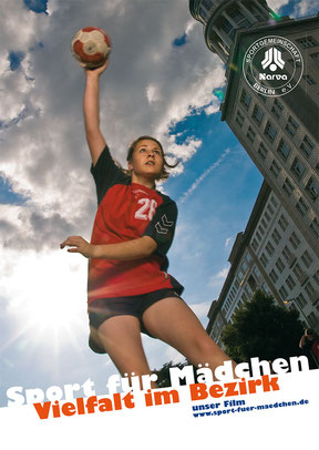 Sport für Mädchen, Vielfalt im Bezirk - Postkarte