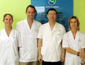 Clinique Shangaï MTC Stagiaires et professeur - SanBao