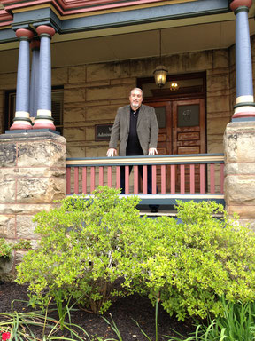 Best Selling Author Jim Douglas at the Happer house